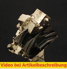 6462 Pyrit pyrite super Aufbau und Glanz 360 Grad Huanzala Peru 6*6*5 cm  MOVIE