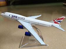 One World BRITISH AIRWAYS B747 400 Passenger Plane Airplan Metal Diecast Model