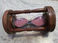 Antique Wooden Sand Timer Vintage Collectible Decorative
