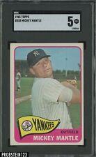 1965 Topps #350 Mickey Mantle New York Yankees HOF SGC 5 EX