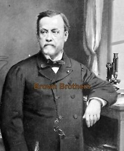 1880s French Chemist Louis Pasteur Vaccination Pioneer Lab Glass Photo Negative