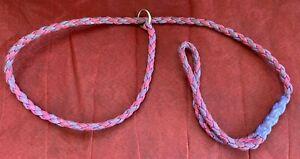 Small Size Pink Purple Slip Knot Dog Lead Walking Quick On Off Unisex No Choke