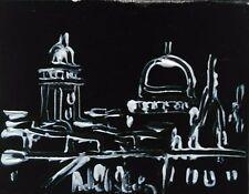 tableau original contemporain peinture Jérusalem Haifa black