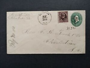 Florida: Alachua 1898 Registered Cover, to Charleston, South Carolina