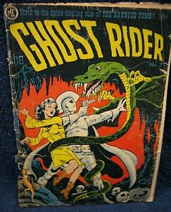 GHOST RIDER #7 / A-1 #51 (1952) - SCARCE HORROR COVER & TALES, GGA - Dick Ayers