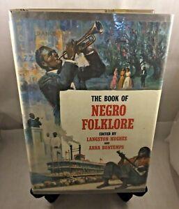 Langston Hughes The Book Of Negro Folklore RARE 1st Ed. 3rd PRT 1958 W/ DJ