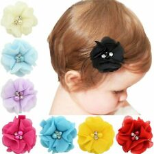 Girls Hair Solid Rose Flower Children Hair Accessories Infant Hairpins Baby