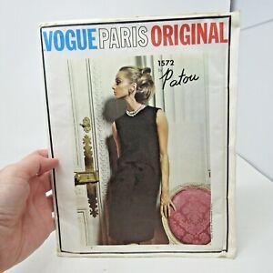 Vintage Pattern Vogue Paris Original # 1572 Patou SZ 14 Bust 34 FF/Complete