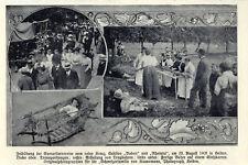 Feldübung Rotes Kreuz Sektion Bodan u.Rheintal Heiden Historische Aufnahmen 1908
