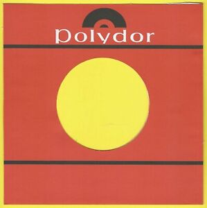 POLYDOR (red & white logo) - REPRODUCTION RECORD COMPANY SLEEVES - (pack of 10)