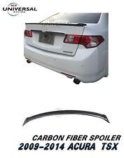 Carbon Fiber Rear Trunk Spoiler Lip Wing For 2009-2014 Acura TSX Sedan 4dr