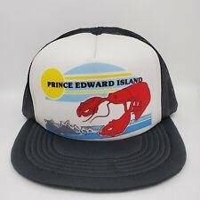 Prince Edward Island Mesh Baseball Cap Snap-back Trucker Hat Lobster Waves Vtg