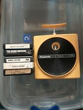 Panasonic TNT 8-Track Player Yellow RQ-830S Tested Working - 5 Tracks Included