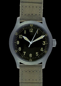 A-11 1940s WWII Pattern Military Watch (Hybrid) with 100m/330ft Water Resistance