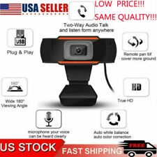 Full HD 1080P Webcam with Microphone USB Computer Camera Live Streaming Webcam