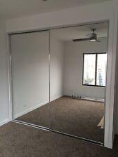 SLIDING FRAMED MIRROR WARDROBE DOORS  2100h x 625w