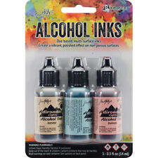 Tim Holtz Alcohol Ink .5oz 3/Pkg Lakeshore-Sandal/Aqua/Salmon NEW
