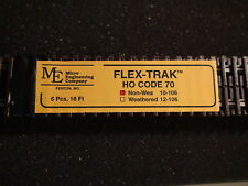 Micro- Engineering Flex Track #10-106 HO-SCALE Code 70 NON WEA 6 pcs 18 ft.