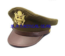 WWII WW2 US Military Army Air Force AAF Officer Hat & Eagle Badge Cap Repro