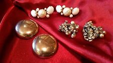 Signed Robert & 2 Additional Pairs Vintage Costume Jewelry 1 Pair Of Earrings