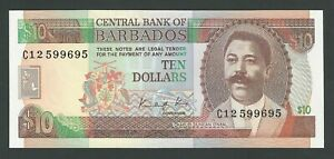 BARBADOS 10 DOLLARS 1988   P-38  UNC