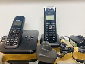Siemens Gigaset A585 IP phone VOIP SIP Fixed line & 2 Handset A58H Cordless Dect