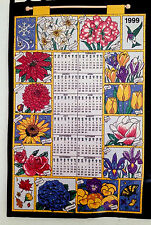 NEW Bucilla 1999 Jeweled Calendar Kit Flowers of the Month 16x24 Stitch or Glue
