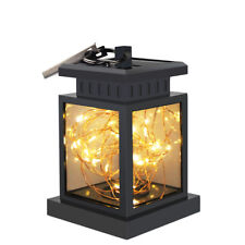 Waterproof Solar Power Lantern Hanging Lamp Led Fairy String Light Home Decor