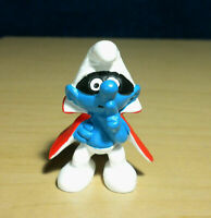 Smurfs 20008 Spy Smurf Mask Cape Rare Vintage Figure Toy PVC Figurine Peyo Lot