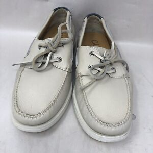 Cole Haan Sporting Mens Bone 2 Eye Lace Up Boat Shoes Size 8 M