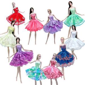 "10pcs/lot Random Fashion Ballet Dresses For 11.5"" Doll Clothes Gown Outfits 1/6"