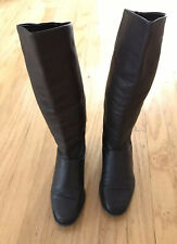 Brown Leather Vintage Knee High Boots Women's Size 6
