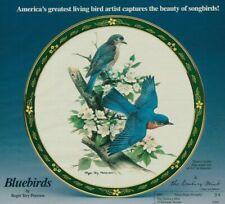 Bluebirds Plate Danbury Mint Vintage Magazine Print Ad 1991