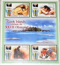 AITUTAKI COOK ISLANDS 1992 Olympics Barcelona Klb MS Wrestling Boxing MNH