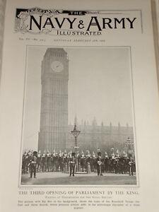 """1903 Big Ben London Fuß Und Pferd Schutz Haushalt Truppen 3RD """" Opening"""