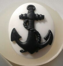 Anchor silicone mold cameo pendant sugarcraft polymer clay resin fimo mould