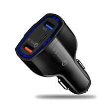 Dual USB Car Charger QC3.0 Charger Type-C Charging For iPhone Xiaomi Samsung HTC