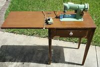 Vintage Singer 185J Canada Sewing Machine with Wood Cabinet