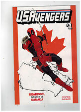 U.S. AVENGERS #1  Deadpool Canada Variant Cover             / 2017 Marvel Comics