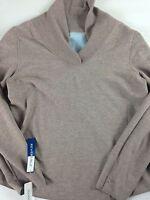 Dockers Long Sleeve Shirt Reversible NEW Lightweight Sweater Womens SZ M/L Soft