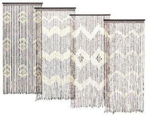 Bamboo Beaded Door Curtain Summer Insect Fly Screen Doorways Caravan 180 x 90 cm