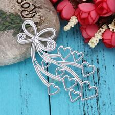 Heart Cutting Dies Album Stencil Scrapbook Paper Cards Embossing DIY Craft Decor
