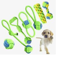 Interactive Cotton Rope Dog Toys Bite-Resistant  Pet Puppy Dog Toy Chew BallToy