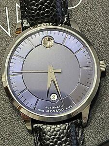 MOVADO 1881 AUTOMATIC MOVEMENT BLUE DIAL MEN'S WATCH 0607020