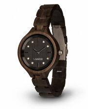 LAiMER Holzuhr Maria - Damen Armbanduhr 100% Sandelholz mit SWAROSKI Kristalle