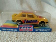 DIECAST MODEL CAR NOREV MADE IN FRANCE FORD ESCORT YELLOW BANANA