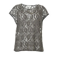 ROSEMUNDE Top Grey Floral Gold Trim Lace Size 38 / UK 12 RRP £79 BG 242