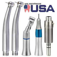 Dental 2 Led High Speed 1 Low Speed Handpiece Kit Contra Angle Stright Air Motor