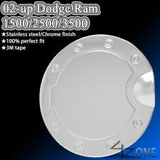 STAINLESS GAS DOOR COVER CAP TRIM fit 2002-2008 DODGE RAM 1500 2500 3500 FUEL