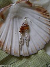 Alloy Amber Fine Earrings